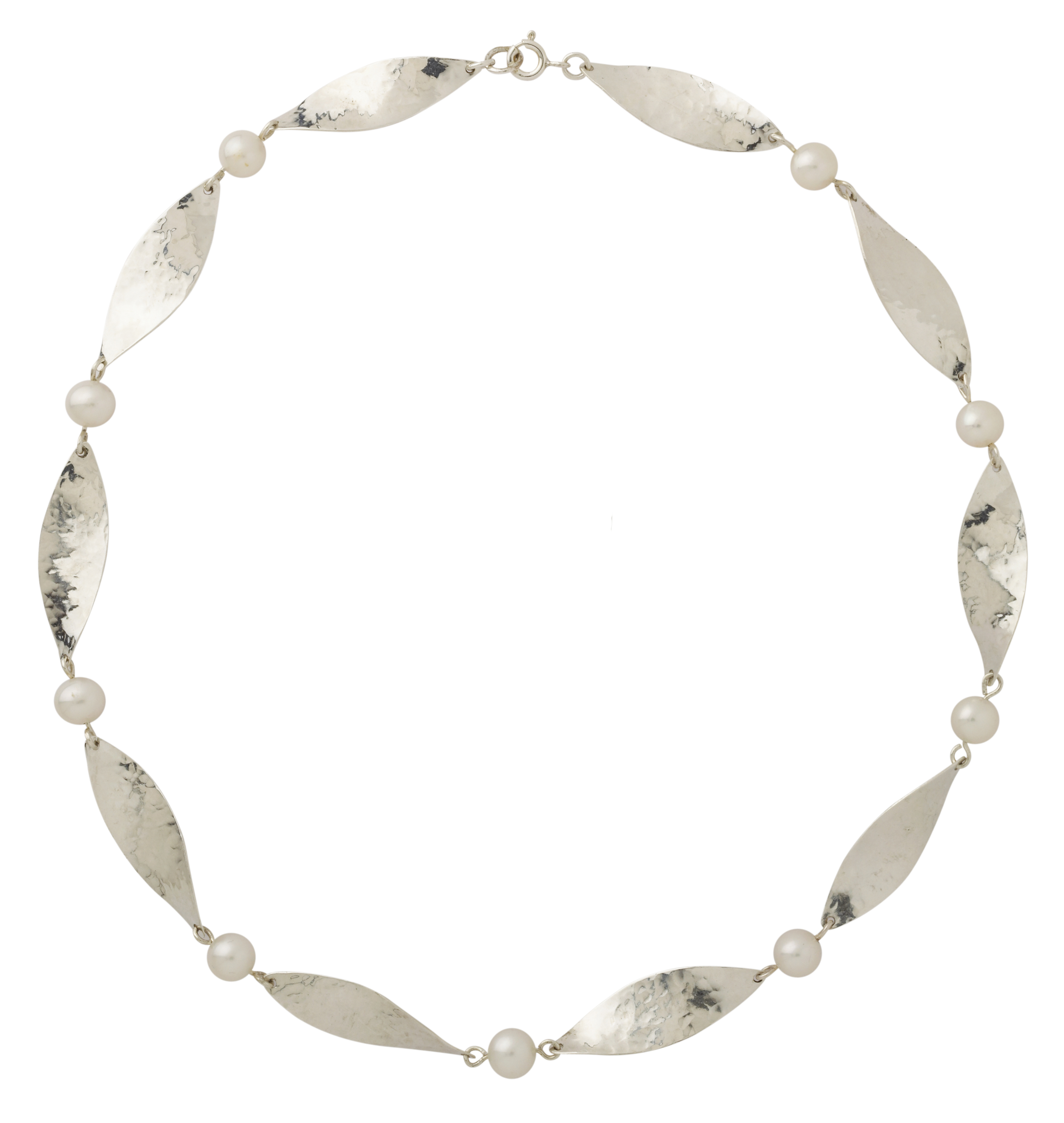 MargaretMims Silver petal necklace 300dpi
