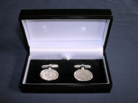 Barked Oval Cufflinks