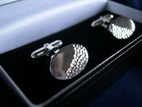 Half Punched Oval Cufflinks