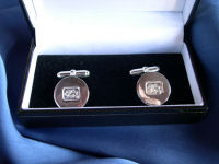Lion Passant Circle Cufflinks