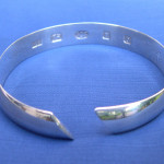 wide slanted cut bangle